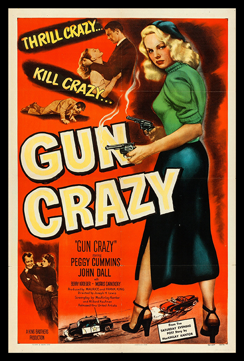 Gun Crazy - Vintage Classic Movie Poster, classic posters, free download, free posters, free printable, graphic design, movies, printables, retro prints, theater, vintage, vintage posters, vintage printables