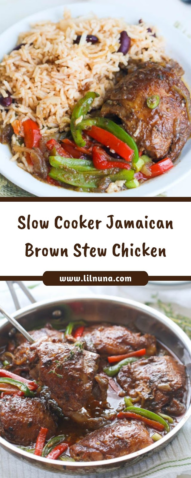 Slow Cooker Jamaican Brown Stew Chicken