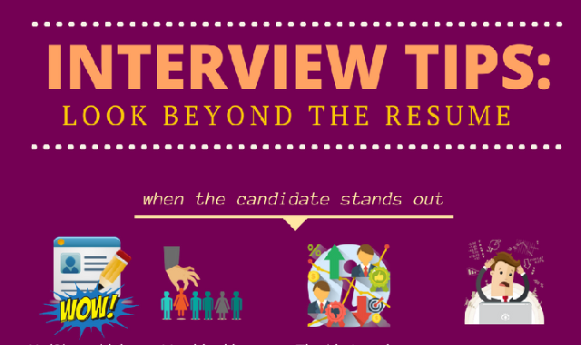Interview Tips: Look Beyond The Resume #infographic