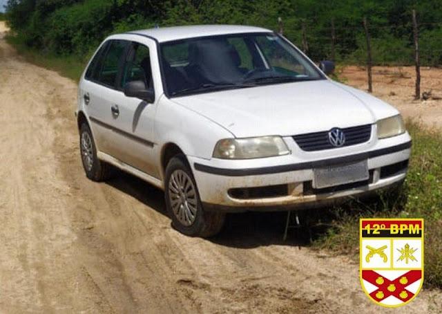 Polícia Militar recupera veículo roubado na zona rural de São José do Brejo do Cruz (PB)
