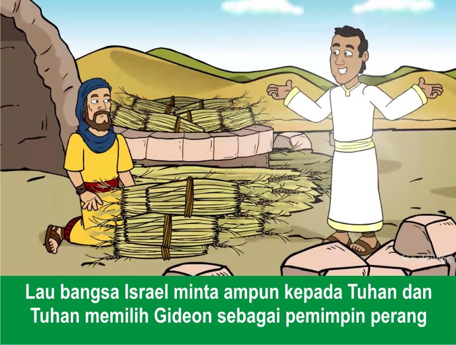 Komik Alkitab Anak: Tuhan Menolong Gideon