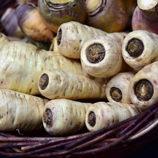 Freshly grown organic parsnips from Malawi