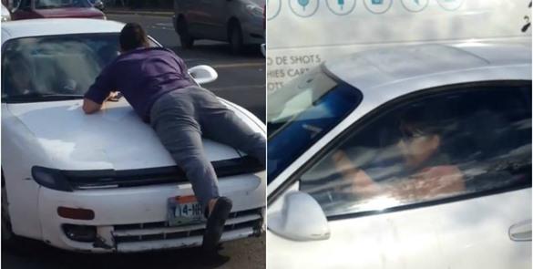 #LadyFugas: Mujer choca a cuatro autos y se da a la fuga
