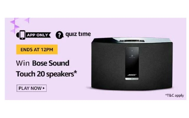 Amazon BOSE SOUND TOUCH 20 SPEAKERS Quiz Answers