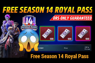PUBG Mobile Free Season 14 Royale Pass 600UC Free