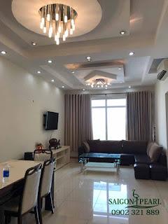 Saigon Pearl HCM - Phòng khách căn hộ cho thuê