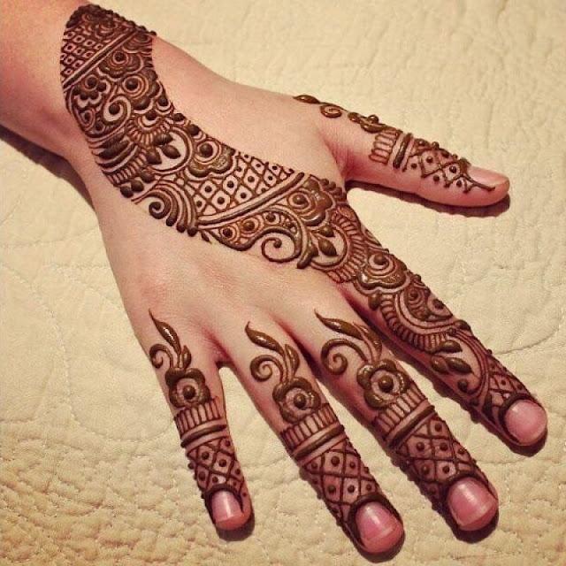 dulhan mehndi design Arabic