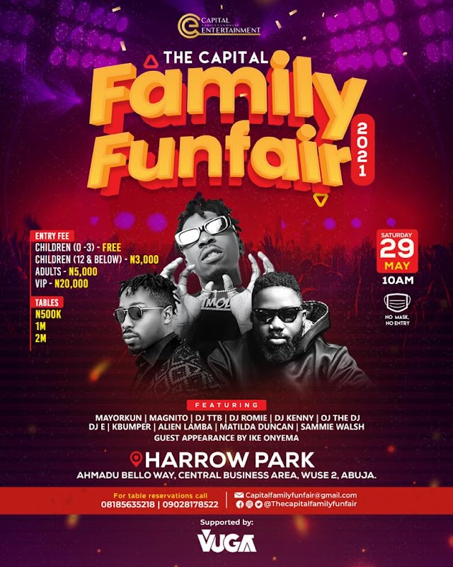 [BangHitz] Vuga Music To Support Best Act At The Abuja Family Fun Fair With 1million Naira