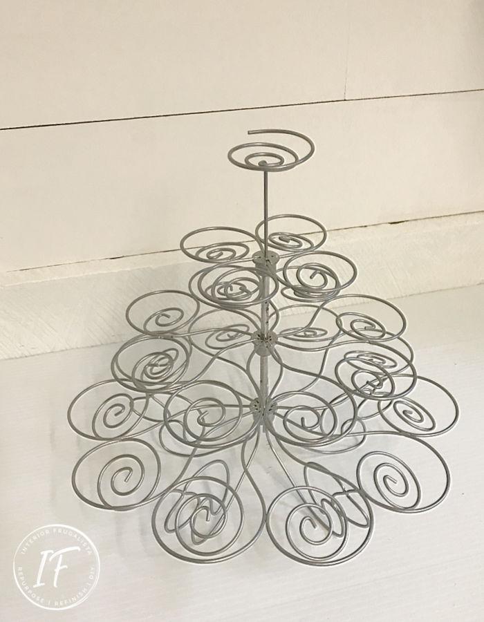Repurposed Metal Cupcake Stand