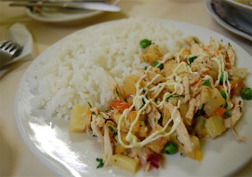 Salpicón de pollo o jamón