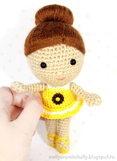 Кукла балерина. Игрушка амигуруми вязаная крючком