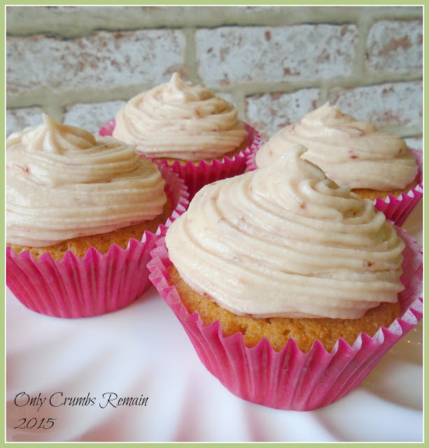 Victoria Cupcakes with a Strawberry Cream Cheese Frosting