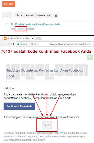 Cara Bikin Akun Facebook Kloningan Pakai Email Blogspot