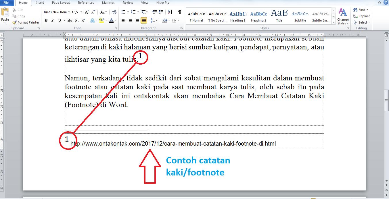 Cara Membuat Catatan Kaki Footnote Yang Baik Di Word Bang Ontak