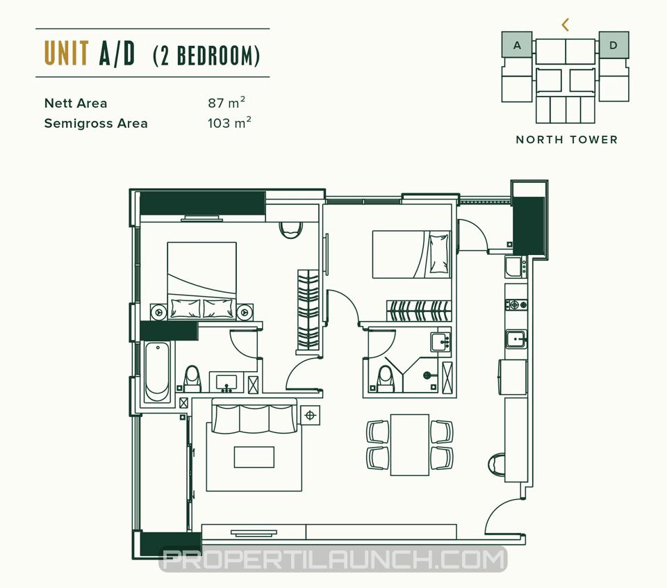 Unit A/D Apartemen Southgate Jakarta