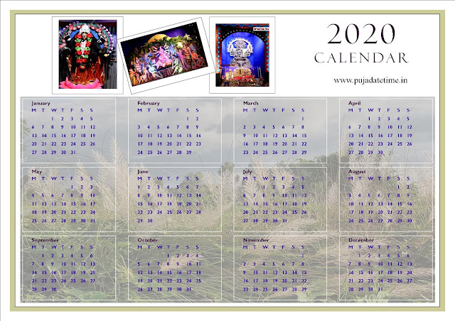 Download Free 2020 Calendar