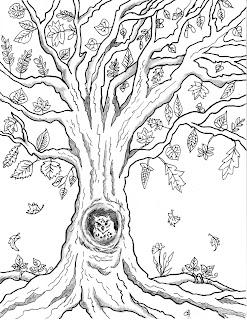 Make it easy crafts: Free printable autumn owl tree