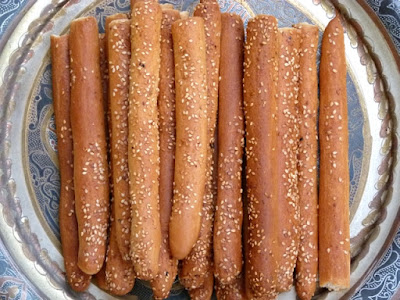 Ägyptische Brotstangen Baksumat - Sesamstangen- Grissini- Ägypten