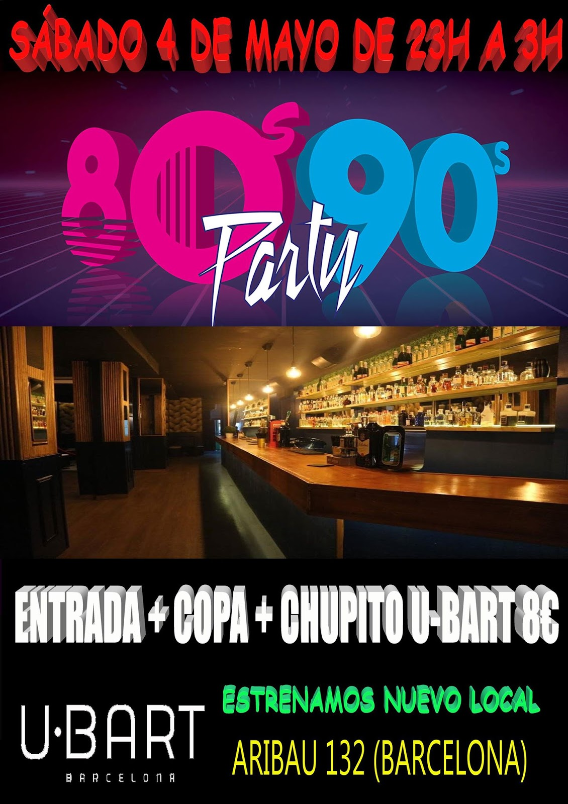 Flyer 80s 90s Party