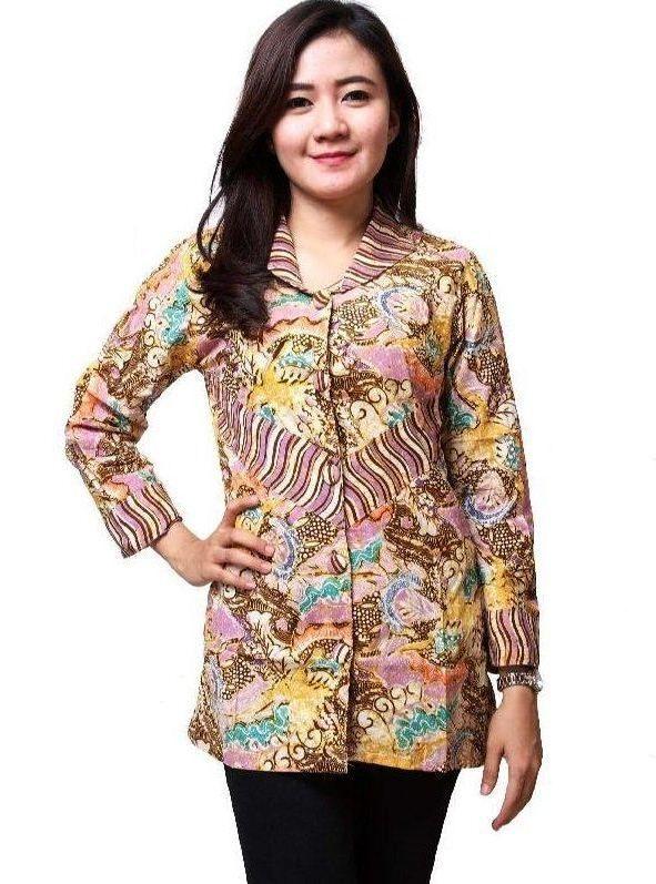 ッ 31 Model Baju Batik Kantor Wanita Lengan Panjang Modern Terbaru