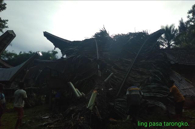 Pohon Tumbang Timpa Rumah Tongkonan di Tarongko