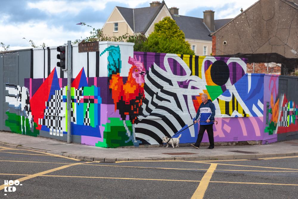 Waterford street art festival mural by Irish artist Omin