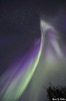 Zorza polarna sfotografowana 16.09.2017. Autor: Ayumi Bakken. Fairbanks, Alaska, USA