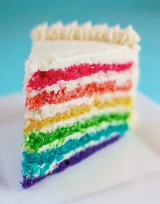 Rainbow Surprise Cake ~ Speedbump Kitchen
