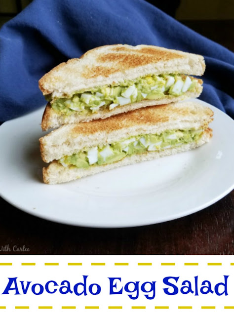 One of our favorite ways to make egg salad is with avocado. It's still creamy but healthier and perfect between a couple slices of toast!