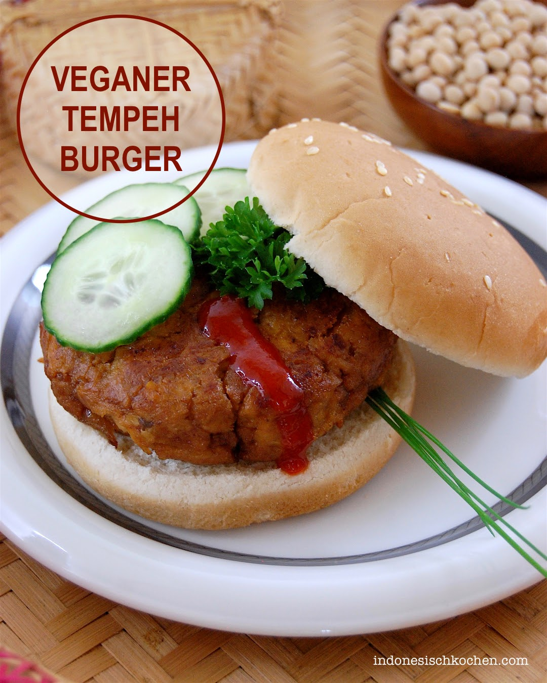 Tempeh Burger, Der Exzellente Vegane Burger aus Indonesien
