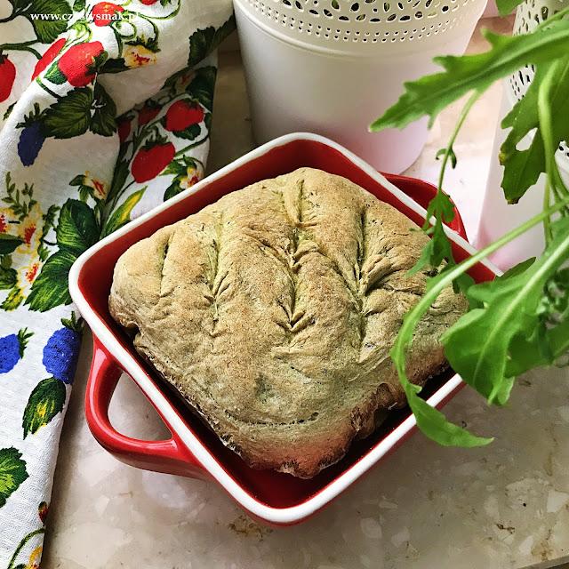 Pszenny chleb z rukolą