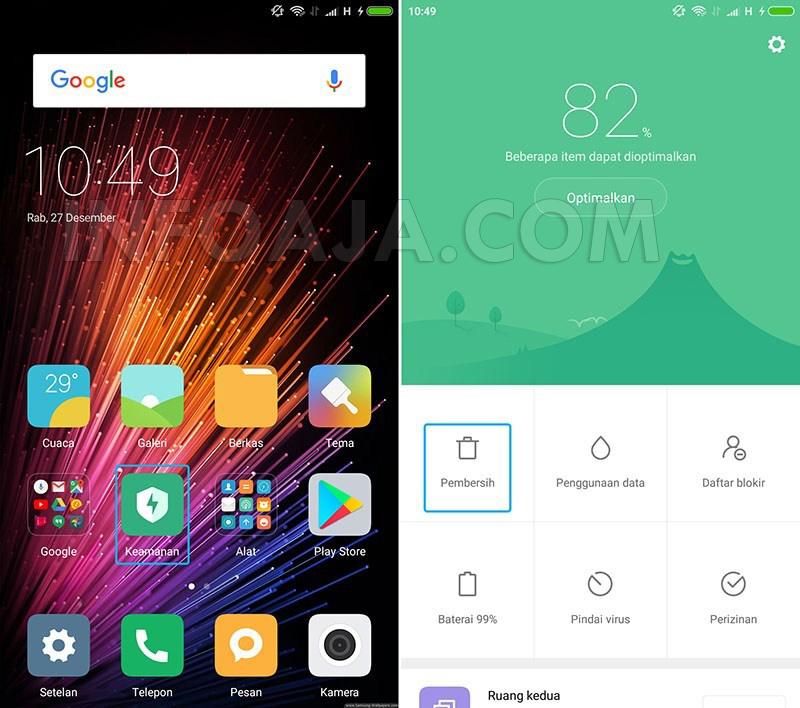 Aplikasi keamanan di Xiaomi
