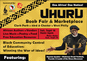 Saturday Sept 18th- 7th Annual One Africa! One Nation! Uhuru Book Fair and Marketplace!