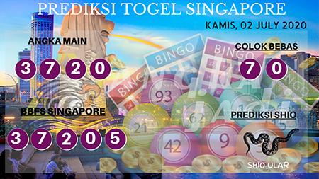 Prediksi Togel Angka Jitu Singapura SGP Kamis 02 Juli 2020