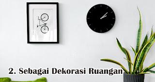 Jam Dinding Berfungsi Sebagai Dekorasi Ruangan