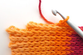 Slip stitch - short rows 1