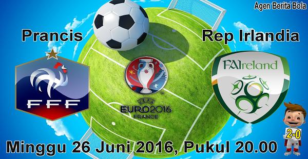 prediksi bola prancis vs republik irlandia euro 2016