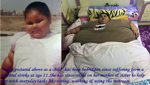 Iman Ahmad Adulati the 36 years woman from Egypt who happens to be 500 KGs
