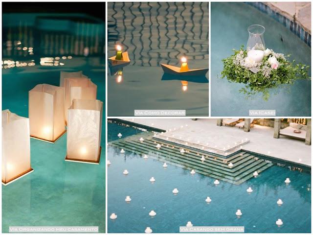 casamento com piscina