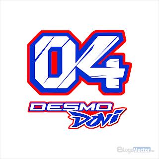 Andrea Dovizioso #04 Logo vector (.cdr)