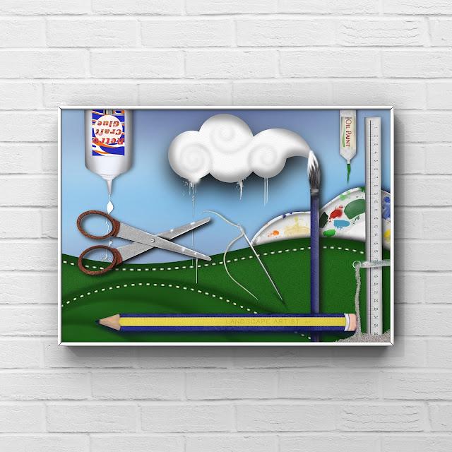 art supplies artwork by Mark Taylor