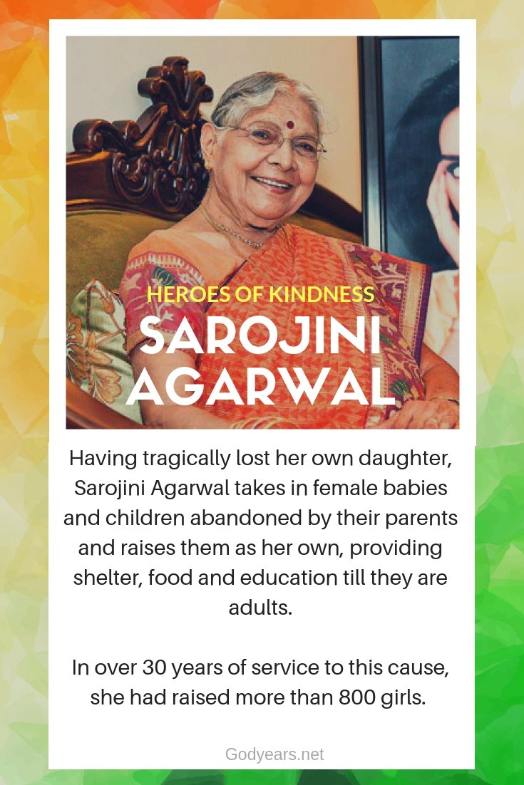 With National Awards for Child Welfare and a Mother India Award amongst her laurels, Dr Sarojini Agarwal is a true inspiration for those looking to turn their life around after facing their worst moment in life.