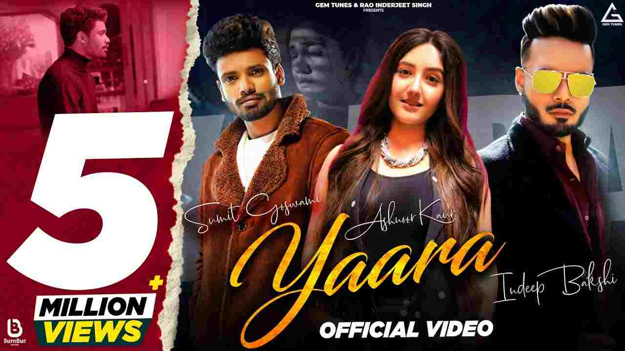 Yaara Lyrics in Hindi Sumit Goswami x Indeep Bakshi Hindi Song
