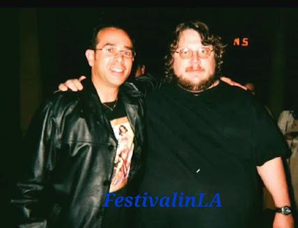 Film critic José Alberto Hermosillo and director Guillermo del Toro