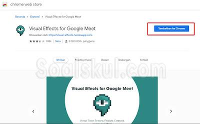 langkah 4 instal visual effect google meet