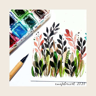 EWAFEBRIART | PAINTING | JUST LEAVES !