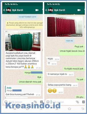 Hijab Masjid Stainless pesanan PT Kereta Commuter Indonesia
