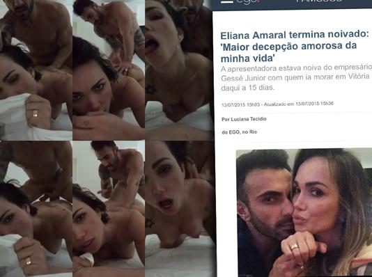 Eliana Amaral Acusa Ex Namorado de Vazar Vídeo íntimo