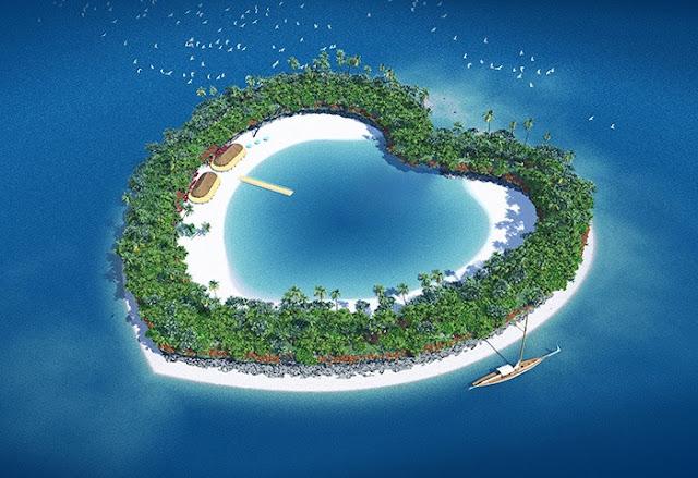 3DCG、リアルイラスト、ハートアイランド、南の島、植物、孤島、ハートの島、イラストレーター検索、イラストレーター一覧、イラスト制作、ハート