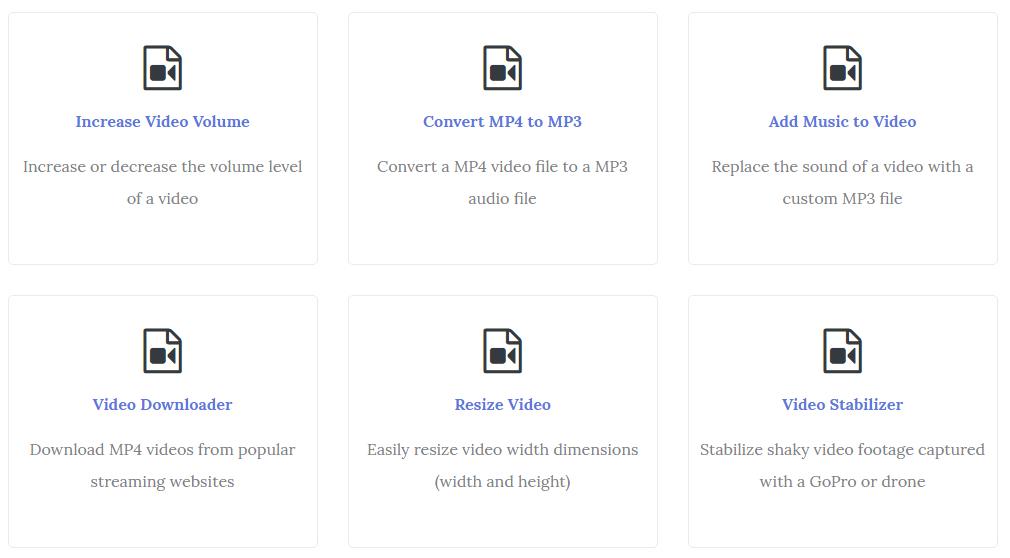 VideoUtils, utilità gratis online per editare Video Musica Immagini e File PDF.